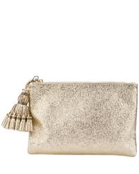 Anya Hindmarch Metallic Tassel Clutch Bag
