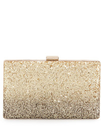 Neiman Marcus Ombre Glitter Box Evening Clutch Bag Goldblack