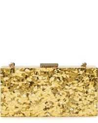 Sondra Roberts Resin Box Clutch Metallic
