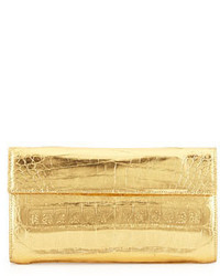 Nancy Gonzalez Small Double Flap Clutch Bag