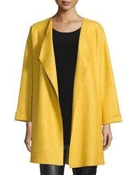 Caroline Rose Lana Fantasia Topper Coat Sunset Gold Petite