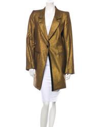 Ann Demeulemeester Metallic Coat