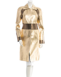 Metallic leather coat medium 421887
