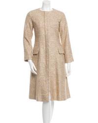 Oscar de la Renta Metallic Tweed Coat W Tags