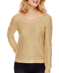 Ana Ana Long Sleeve Sequin Sweater  Petite