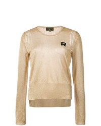 Rochas Lurex Logo Patch Jumper