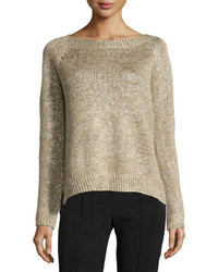 Gold Crew-neck Sweaters for Women | Women's Fashion
