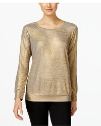 INC International Concepts Metallic Sweatshirt Only At Macys