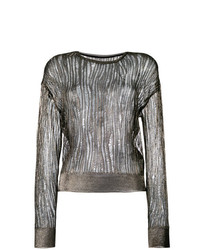 Saint Laurent Open Stitch Sheer Jumper