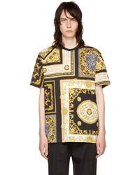 Versace Black And Gold Medusa T Shirt