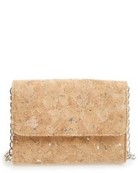 Cork finish crossbody bag metallic medium 1248611