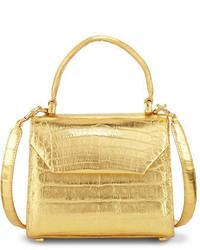 Nancy Gonzalez Crocodile Small Flap Top Handle Crossbody Bag