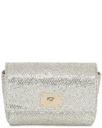 Jimmy Choo Ruby Glitter Net Lace Shoulder Bag
