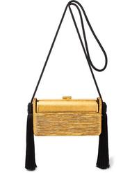 Bienen-Davis Rgine Tasseled Pleated Lurex Shoulder Bag