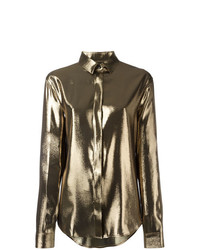 Saint Laurent Metallic Lam Shirt
