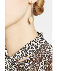 Alexis Bittar 10kt Gold Plated Earrings With Crystals