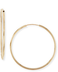 Neiman Marcus 14 Karat Gold Large Hoop Earrings
