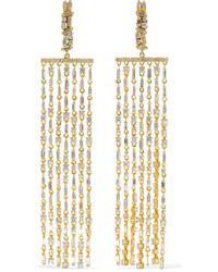 Suzanne Kalan 18 Karat Gold Diamond Earrings