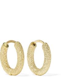 Carolina Bucci 18 Karat Gold Hoop Earrings One Size