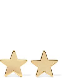 Jennifer Meyer 18 Karat Gold Star Earrings
