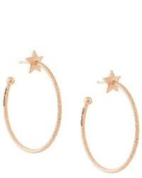 Carolina Bucci 18kt Pink Gold Superstellar Sparkly Hoop Earrings