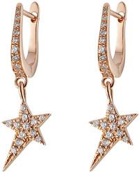 Diane Kordas 18kt Rose Gold Earrings With White Diamonds