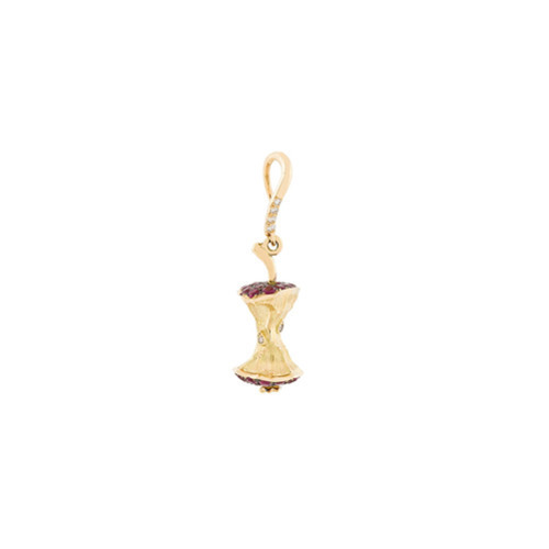 Aurelie Bidermann 18kt Yellow Gold Ruby And Diamond Big Apple Earring