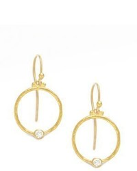 Gurhan 24k Gold Diamond Hoop Earrings