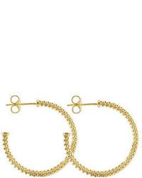 Lagos 35mm Mini 18k Gold Caviar Hoop Earrings