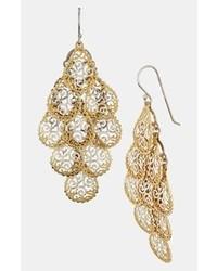 Argento Vivo Chandelier Earrings Gold Silver