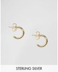 Asos Gold Plated Sterling Silver 10mm Hoop Earrings