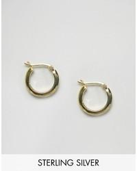 Asos Gold Plated Sterling Silver 20mm Tube Hoop Earrings