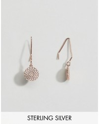 Asos Rose Gold Plated Sterling Silver Filigree Through Earrings