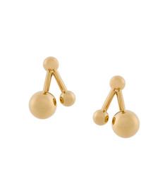 Chloé Asymmetric Ball Stud Earrings