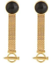 Balenciaga Mesh Chain Drop Earrings