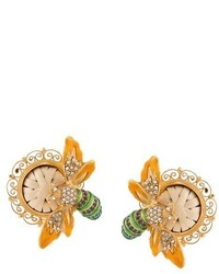 Dolce & Gabbana Bee Clip On Earrings