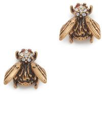 Marc Jacobs Beetle Stud Earrings