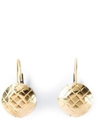 Bottega Veneta Intrecciato Detail Earrings