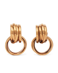 Balenciaga Burnished Gold Tone Earrings