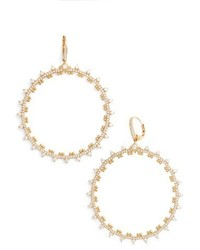 Nadri Cardamom Frontal Hoop Earrings