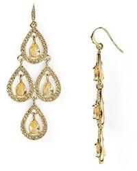 Carolee Topaz Crystal Pear Chandelier Earring