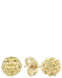 Lagos Caviar 18k Gold Stud Earrings