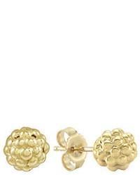 Lagos Caviar 18k Gold Stud Earrings