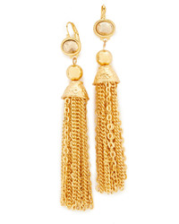 Kenneth Jay Lane Chain Tassel Earrings