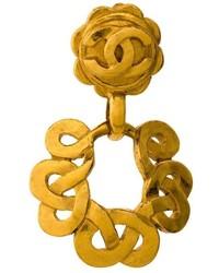 Chanel Vintage Cc Logo Swing Clip On Earring