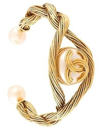 Chanel Vintage Faux Pearl Cuff