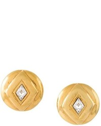 Chanel Vintage Geometric Clip On Earrings