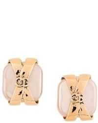 Chanel Vintage Gift Motif Clip On Earrings