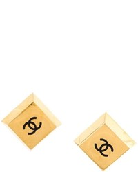 Chanel Vintage Square Logo Earrings