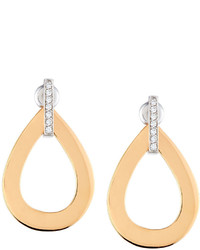 Roberto Coin Chic Shine Rose Gold Diamond Teardrop Earrings